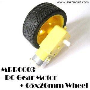 MRR003 - DC Gear Motor & 65x26mm Wheel