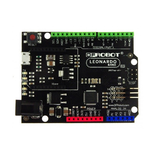 Dfr dfrobot leonardo with xbee socket arduino board