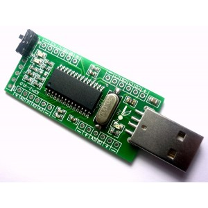 iCP12 - usbStick (USB DAQ, PC Oscilloscope, Data Logger, Frequency Generator, PIC18F2550 IO Board)