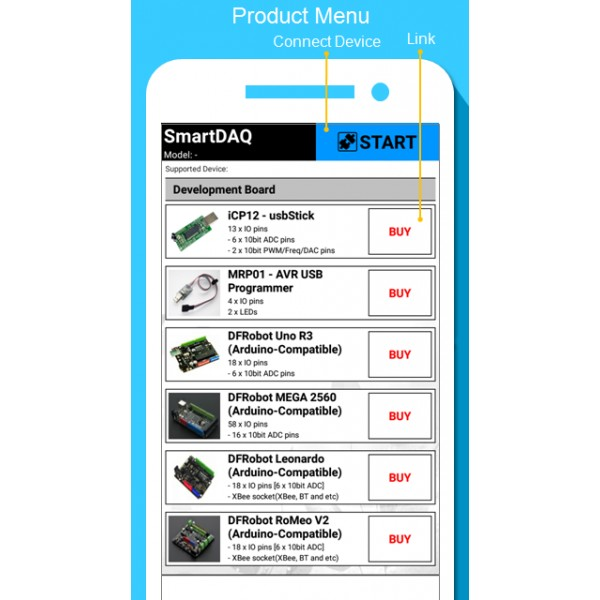 Sample Application] Arduino source code for SmartDAQ (Free)