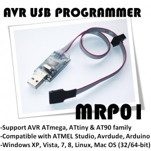 MRP01 - USB AVR Programmer (for ATmega, ATtiny, AT90