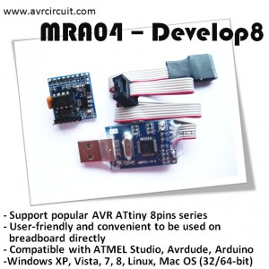 MRA04 - Develop8 (AVR USB Programmer & Tinium8T)